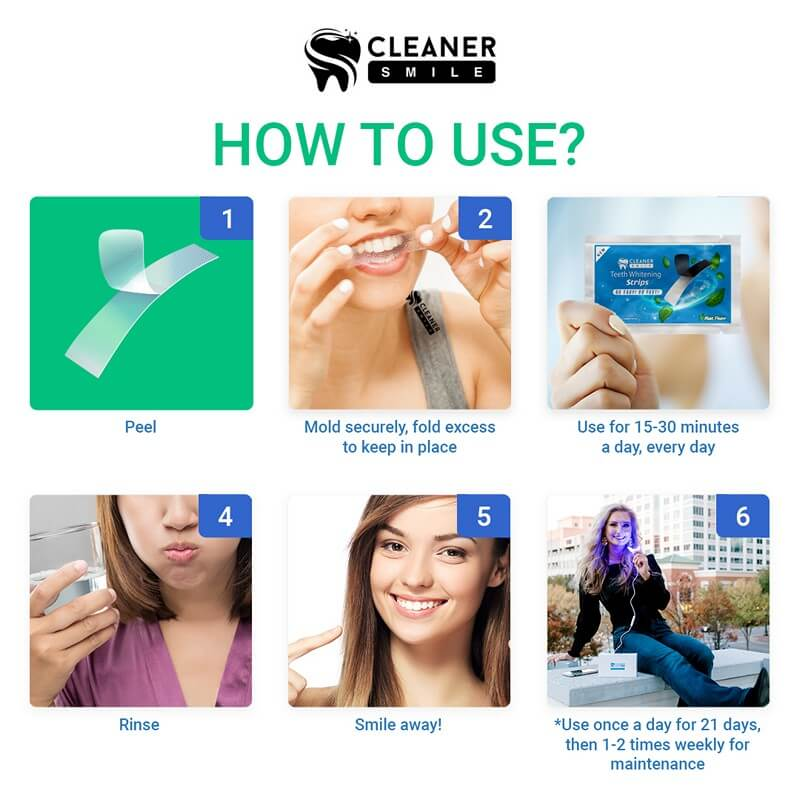 Cleaner Whitening Strips Review